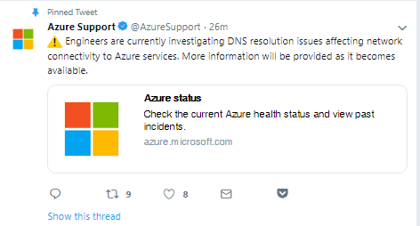 MICROSOFT AZURE, OFFICE 365, SHAREPOINT, ONEDRIVE AND MORE ARE DOWN